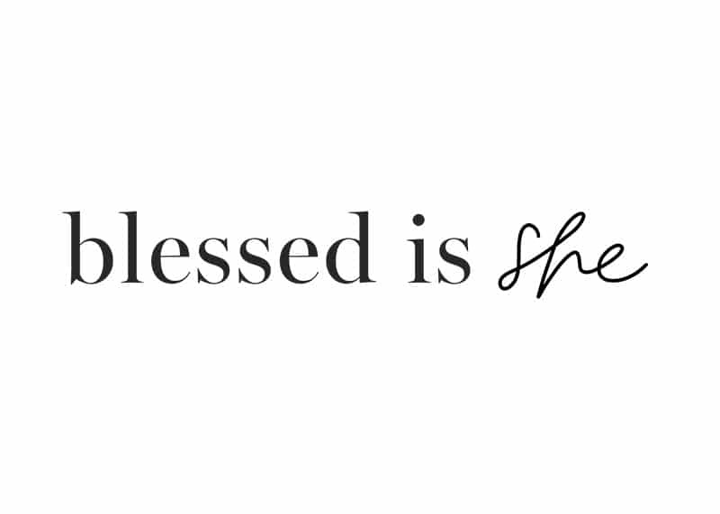 Blessed Is She logo